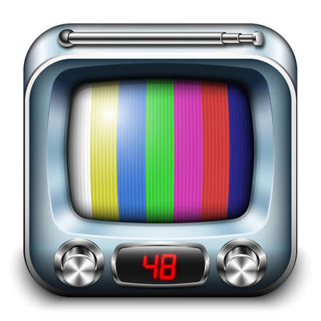 the outmoded: TV App icon, vector