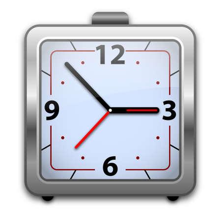 clock face: Analog alarm clock vector illustration