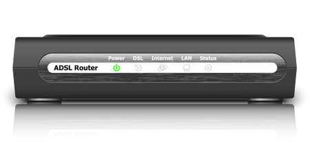 wap: Vector ADSL Router Icon. Front View Illustration
