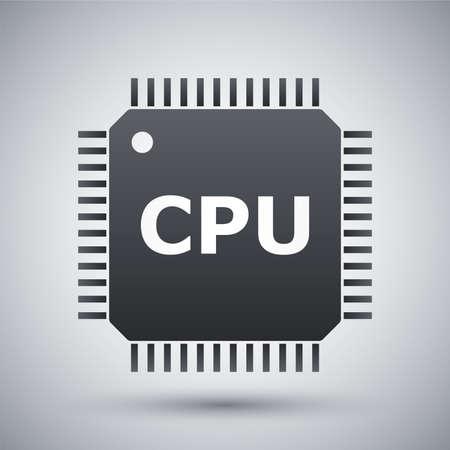 cpu: Vector CPU icon Illustration
