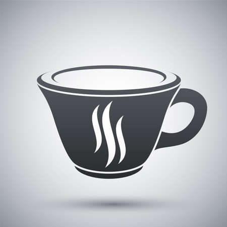 coffee cup icon: Vector coffee cup icon