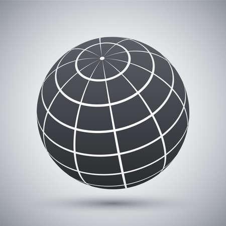 globe terrestre: Vector globe ic�ne Illustration