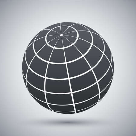 globo terraqueo: Vector mundo icono
