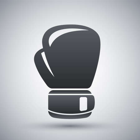 boxing sport: Vector boxing glove icon Illustration