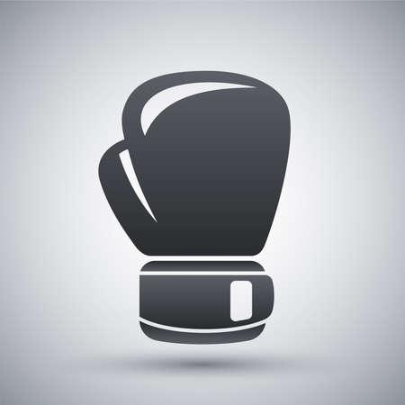 guantes: Vector icono de guante de boxeo
