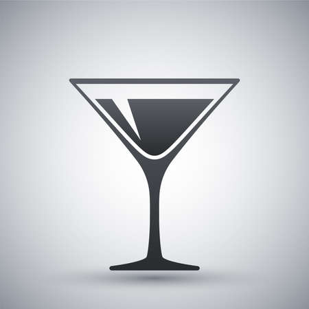Martini glass icon, vector