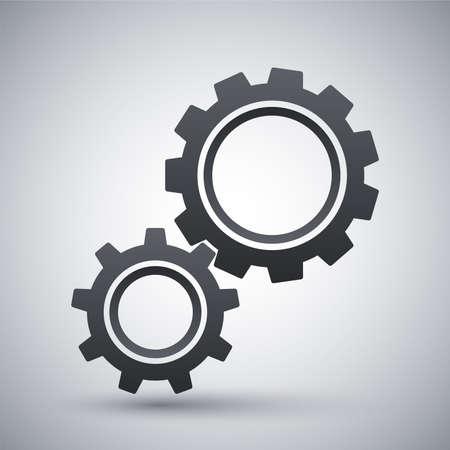 gears icon: Vector gears icon