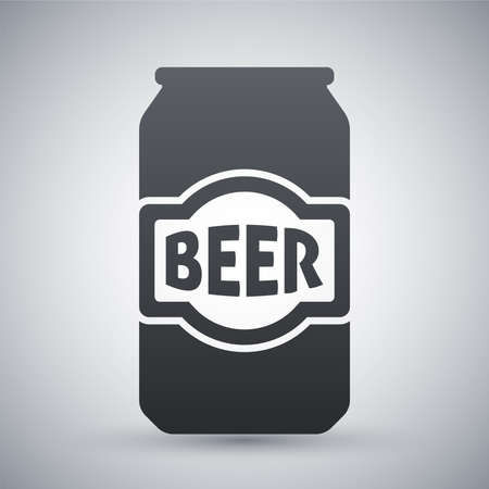 beer house: Vector beer can icon