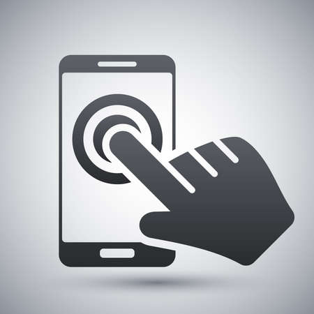 touch: Touch screen smartphone icon, vector
