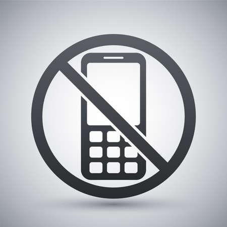 no cell: Vector no phone sign