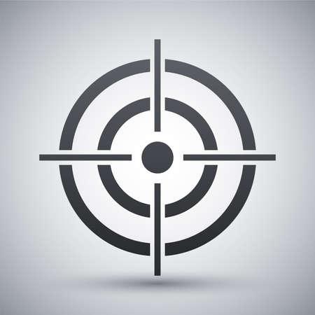 Vector target icon Vectores