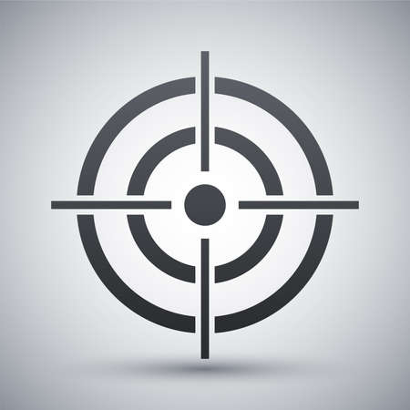 archery target: Vector target icon Illustration