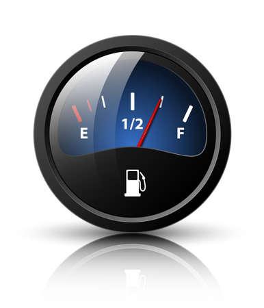 propellant: Vector fuel gauge icon