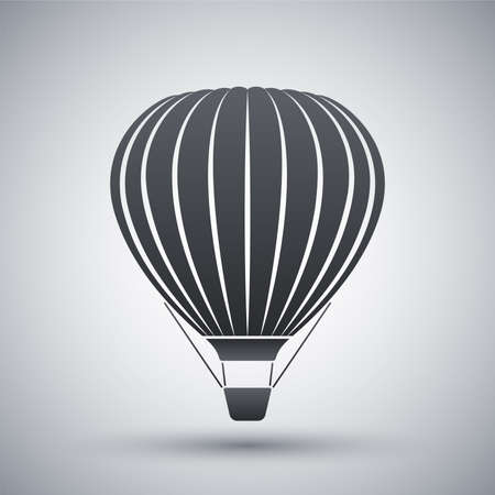 air baloon: Vector hot air balloon icon
