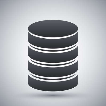 database server: Vector database icon Illustration