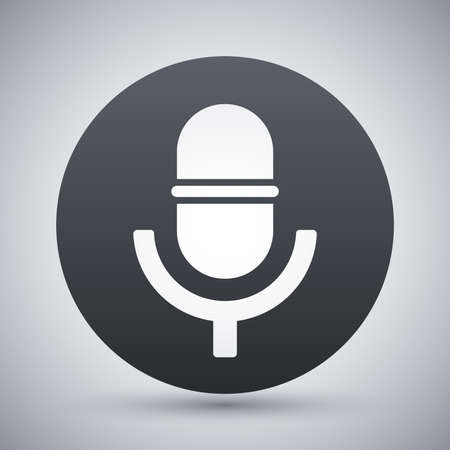 scenical: Vector microphone icon