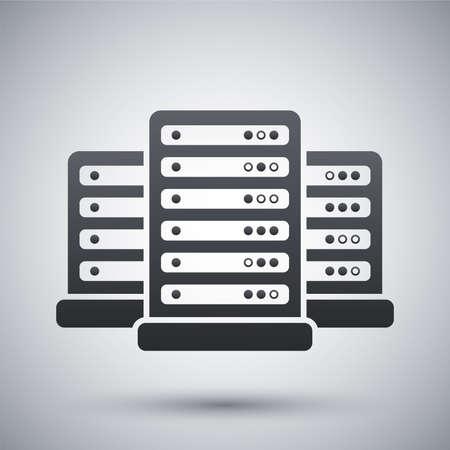 벡터 데이터 센터 아이콘