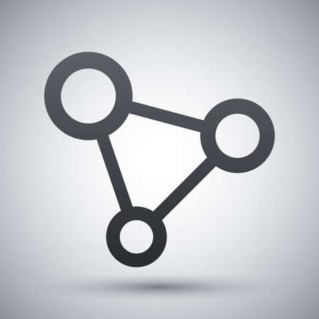 social network icon: Vector concept network icon