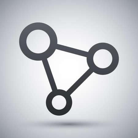 interaccion social: Vector icono de la red concepto
