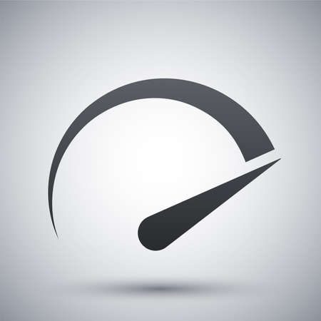 high speed: Speedometer icon, vector