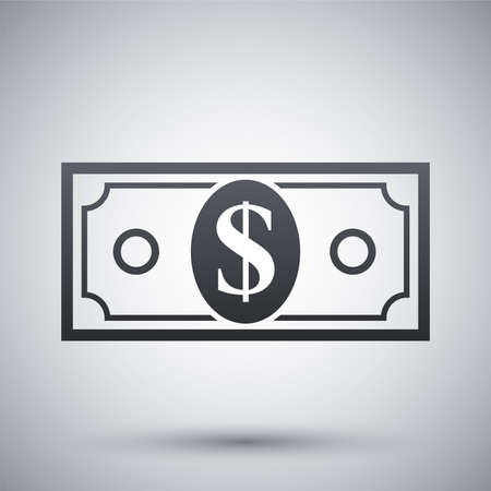 bill payment: Vector dollar bill icon
