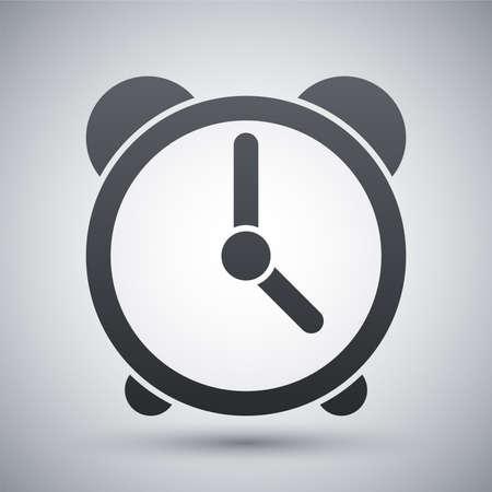 reloj despertador: Vector icono del reloj