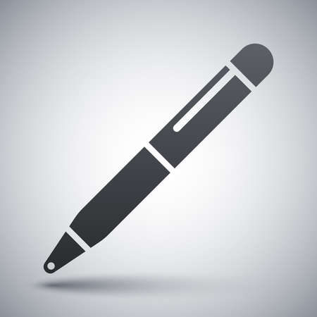 pen and marker: Vector ballpoint pen icon