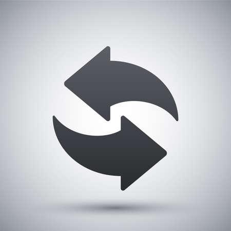refrescarse: Vector icono de actualización Vectores