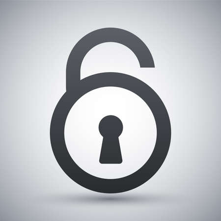 door key: Vector open padlock icon