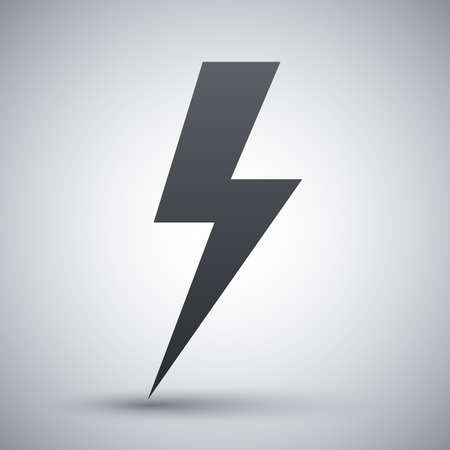 Vector lightning bolt icon