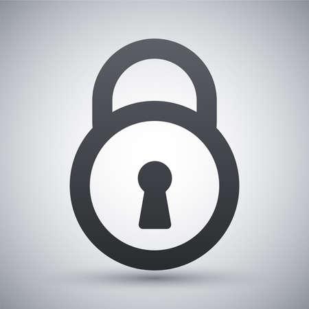Vector icône de cadenas Banque d'images - 41125031