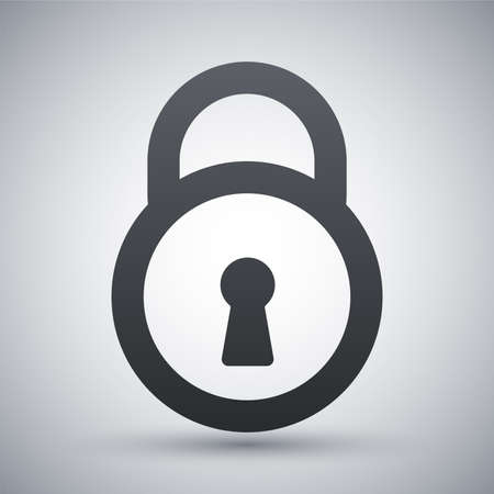 door lock: Vector padlock icon Illustration