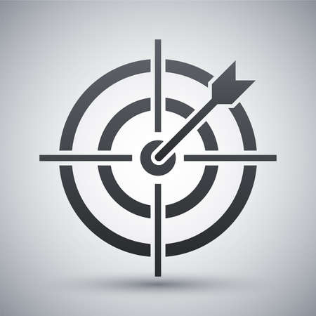 penetrating: Vector target with dart icon Illustration