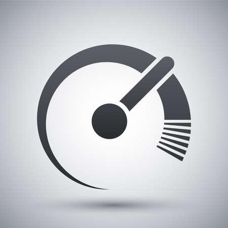 altas: Icono del vector del velocímetro