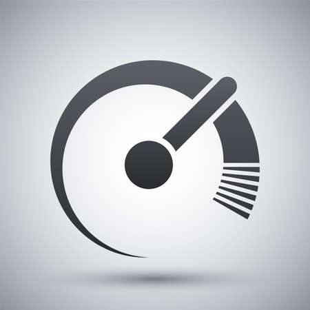 internet speed: Vector speedometer icon