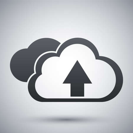 cloud icon: Vector cloud computing upload icon Illustration