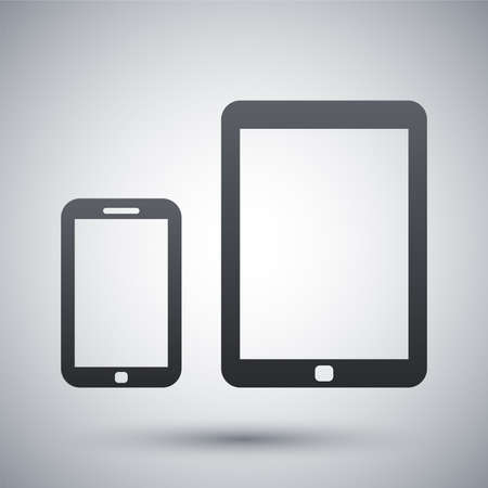 tablet: Vector smart phone and tablet icon