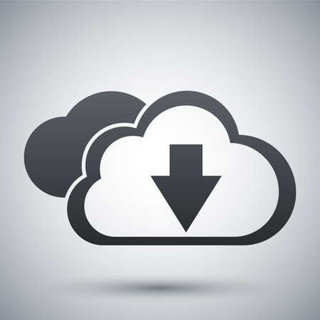 cloud computing services: Vector cloud computing download icon