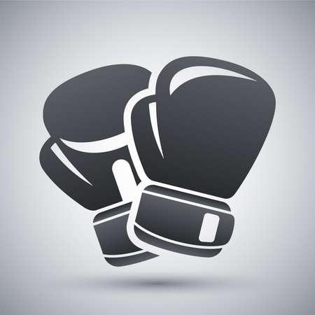 Vector bokshandschoenen pictogram Stock Illustratie