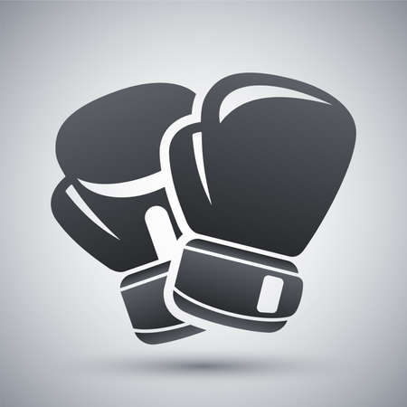 hand gloves: Vector boxing gloves icon Illustration