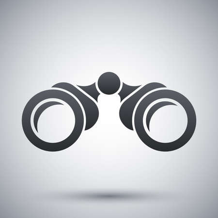 eyepiece: Vector binoculars icon Illustration