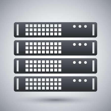 server rack: Vector server rack icon Illustration
