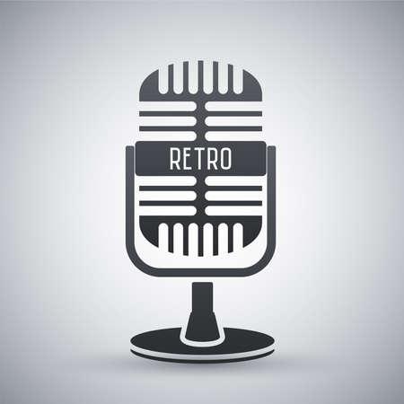 retro microphone: Vector retro microphone icon