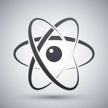 Vector atom model icon Illustration