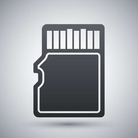 micro: Vector micro SD card icon Illustration
