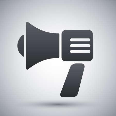 dictate: Vector megaphone icon