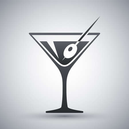 Vector martini glass icon