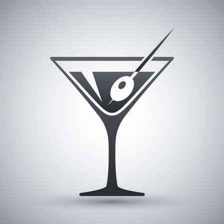 martini glass: Vector martini glass icon