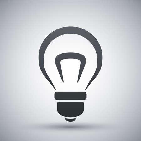 Żarówka wektor ikona Ilustracje wektorowe