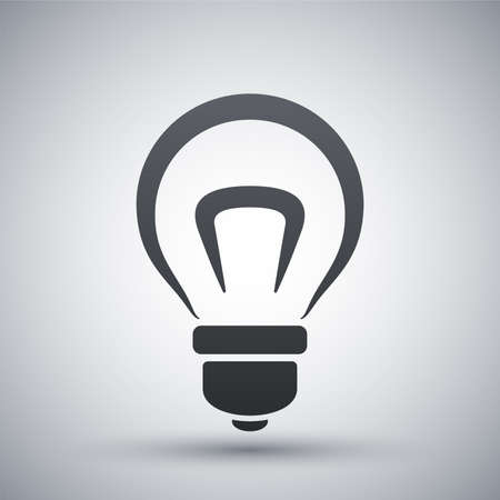 bright light: Vector light bulb icon